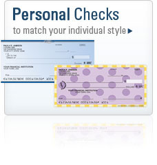 Personal Checks to match your individual style