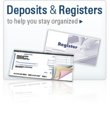 Deposits and Registers to help you stay organized