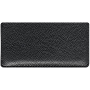 Black Leather Checkbook Cover