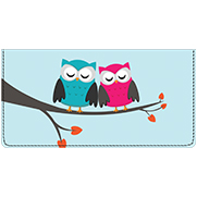 Whimsical Owls Leather Cover